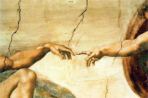 Pics photos use michelangelo s creation of adam in an advertisement