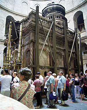 The Holy Sepulchre.