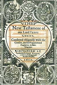 Geneva Bible: New Testament Title Page (Section).