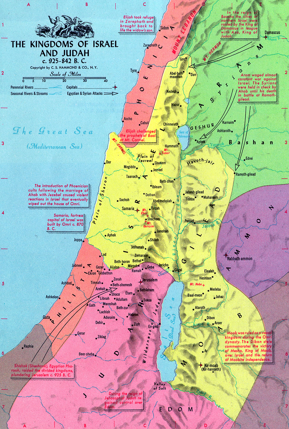 Map Divided Kingdom Israel Judah http://www.katapi.org.uk/Maps/DivKingdom925.htm