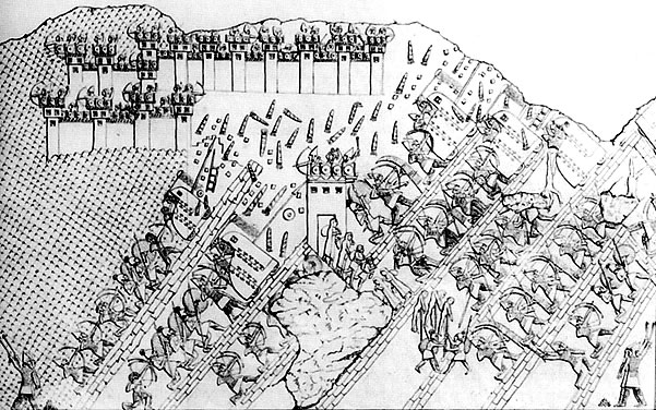 The Seige of Lachish. Original transcript, Henry Larard, Calah wall panel.