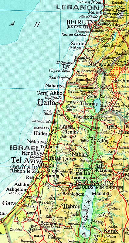 Israel times atlas map 1982 this map has been adapted from the times concise atlas of the world 1983 book club associates page 79 gumiabroncs Choice Image